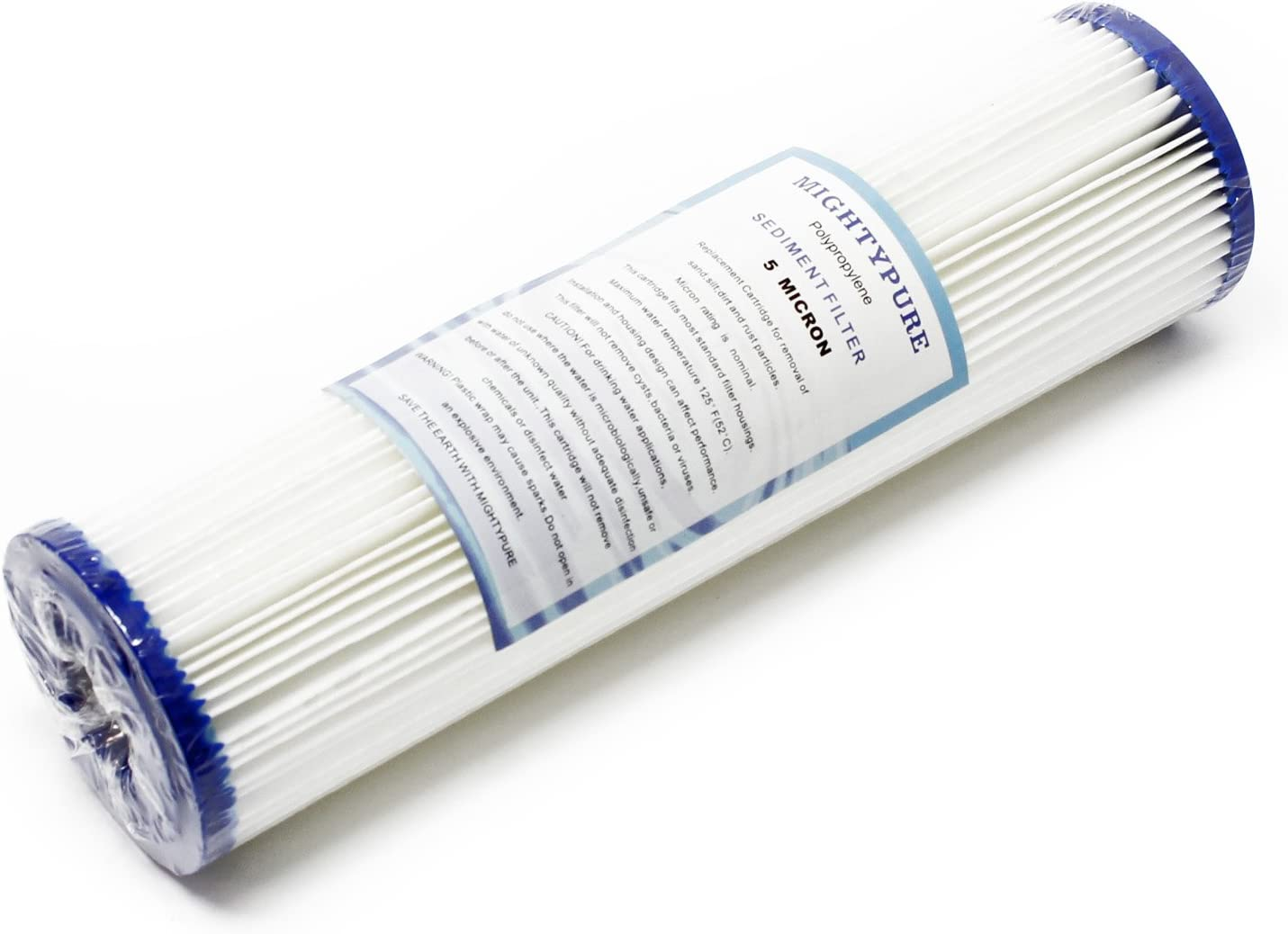 Naturewater PL-10A Cartucho filtro agua plisado PP 10 Filtro sedimentos agua Cartucho repuesto