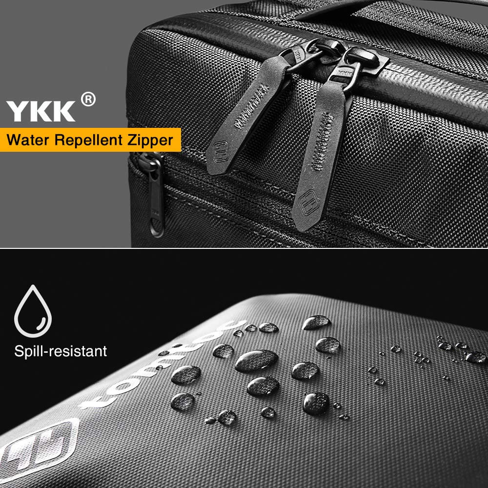 Waterproof Crossbody Bag Travel Storage for Switch//iPhone//Cable//Power Bank tomtoc Mens Shoulder Bag with Smart Organization for Electronic Accessories Messenger Bag Fit 7.9 iPad Mini