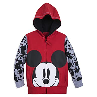 453700bfc97 Amazon.com  Disney Mickey Mouse Hoodie for Boys - Size 4 Red  Clothing
