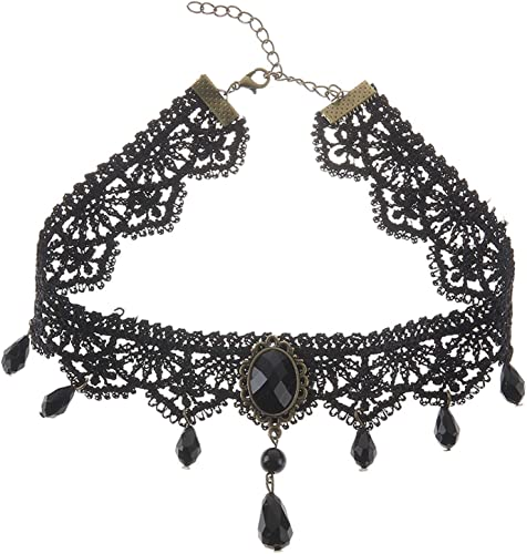 Lace Women Neck Choker Necklace Vintage Gothic Necklace Chain Jewellery