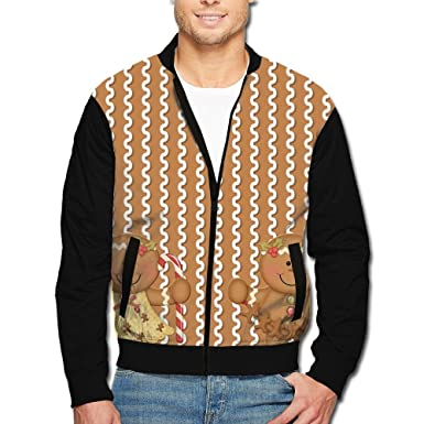 fri mens gingerbread christmas color block 80s jacketsrncomfort cold weather - Christmas Jackets