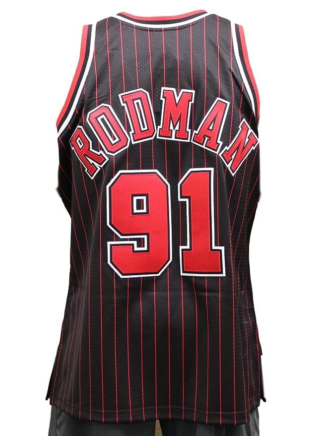 44adf881195 Amazon.com   Mitchell   Ness Dennis Rodman Chicago Bulls Authentic 1995  Alternate NBA Jersey   Sports   Outdoors