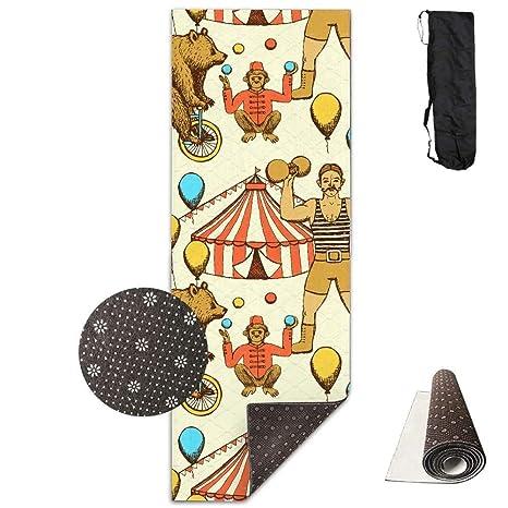 Amazon.com : wenhuamucai Sketch Circus Yoga Mat - Advanced ...