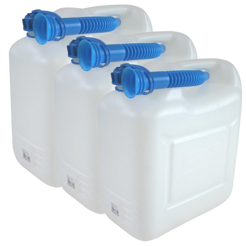 h/ünersdorff Wasserkanister ECO mit Auslaufrohr und unverlierbarer Deckelverschraubung 22 L mit Rohr