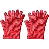 耐熱 防水 シリコン製 バーベキュー・キッチン手袋 2双セット