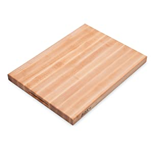 John Boos Platinum Commercial Series Maple Wood Edge Grain Reversible Cutting Board, 24 Inches x 18 Inches x 1.75 Inches