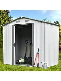 walcut 6u0027 x 4u0027 outdoor garden storage utility tool shed backyard lawn building garage