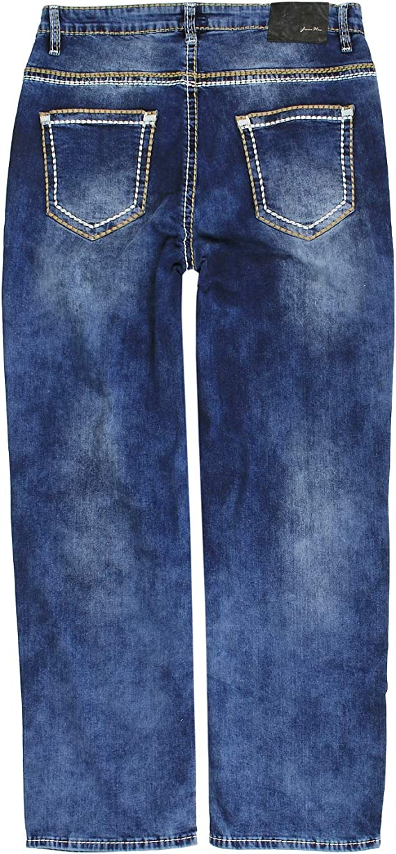Lavecchia LV-503 color negro Pantalones vaqueros para hombre ajuste c/ómodo