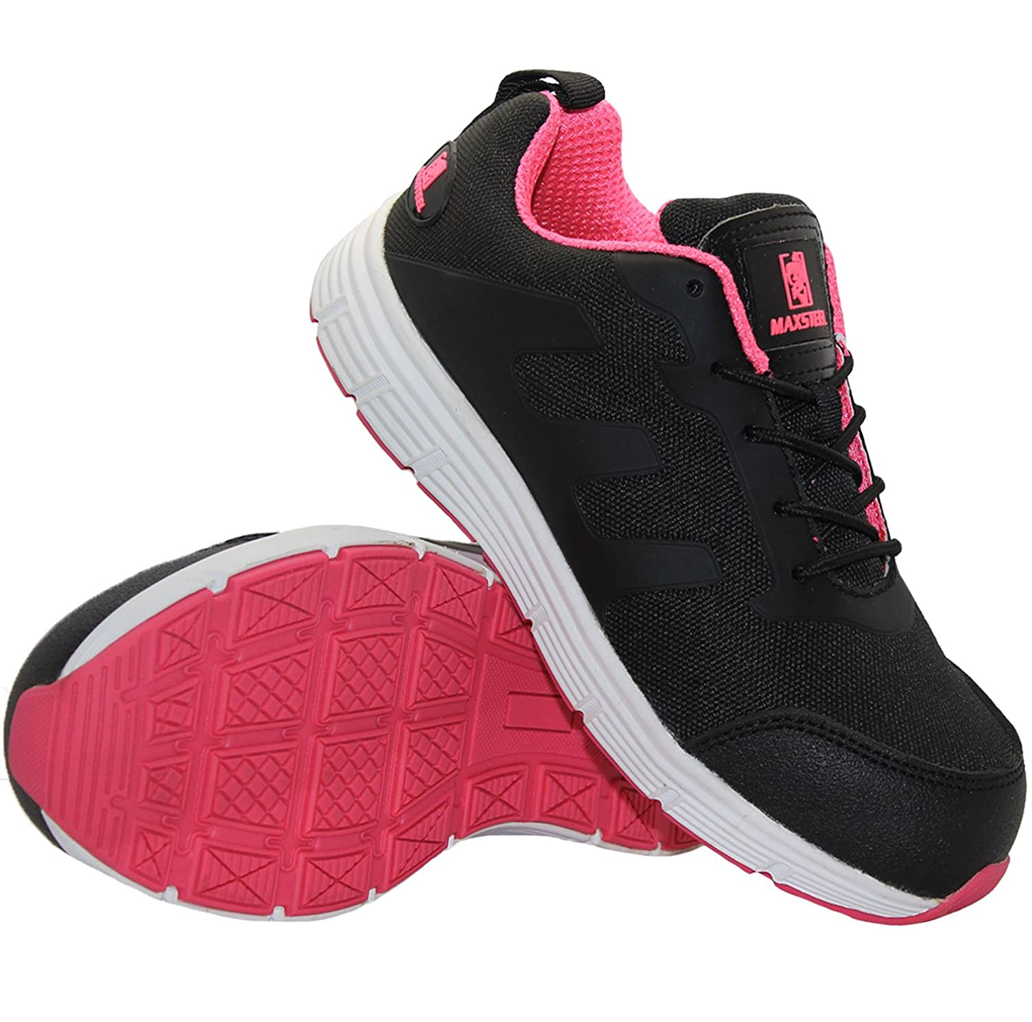 5e2879cd255 Ladies MAXSTEEL Ultra Lightweight Safety Shoes Steel Toe Cap Womens Work  Boots Trainers
