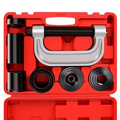 Heavy Duty Ball Joint Press & U Joint Removal Tool Kit with 4x4 Adapters, for Most 2WD and 4WD Cars and Light Trucks: Automotive