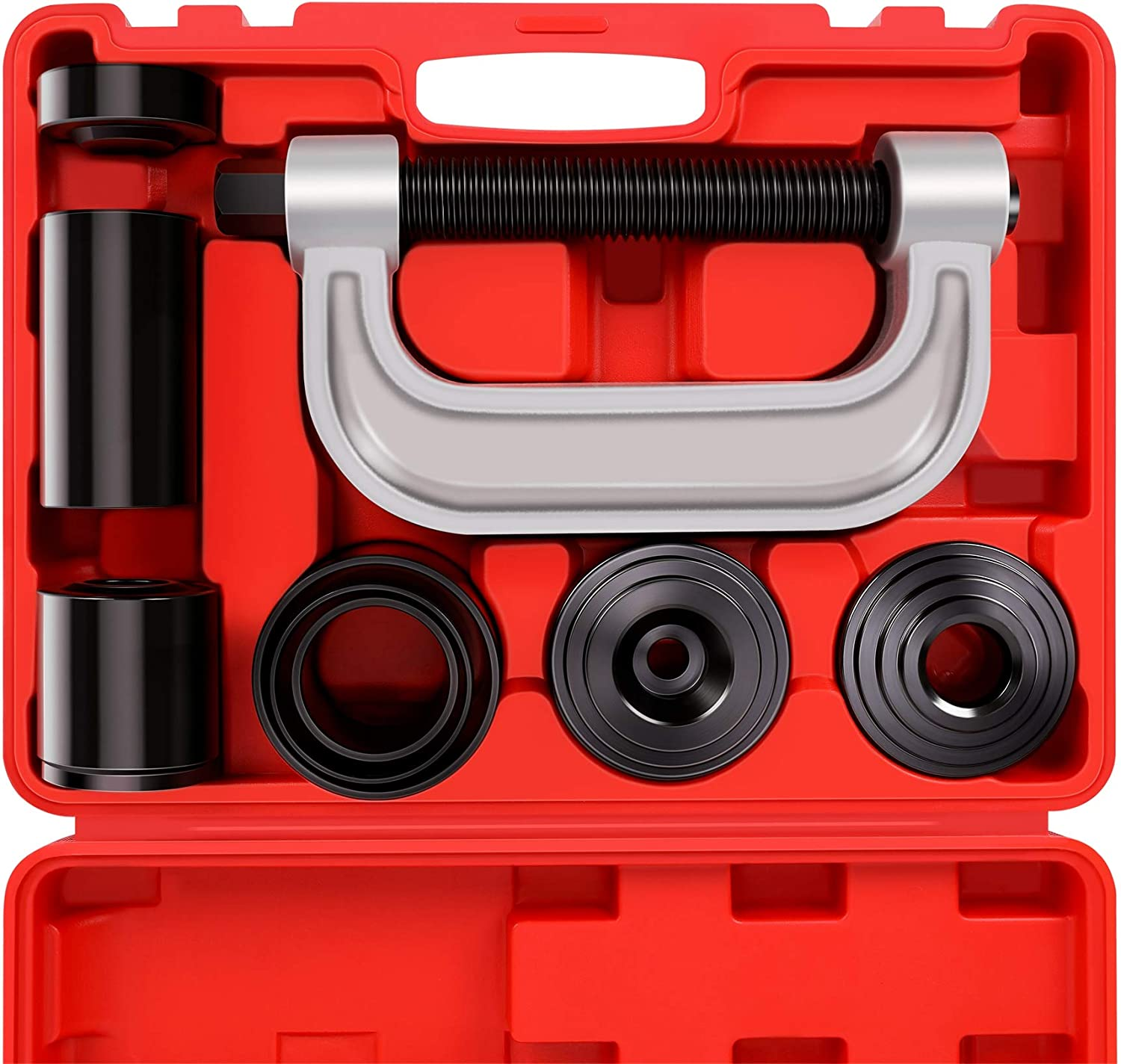 for Most 2WD and 4WD Cars and Light Trucks 4-in-1 Ball Jointer Remover//Installer Set Heavy Duty Ball Joint Press /& U Joint Removal Tool Kit with 4x4 Adapters