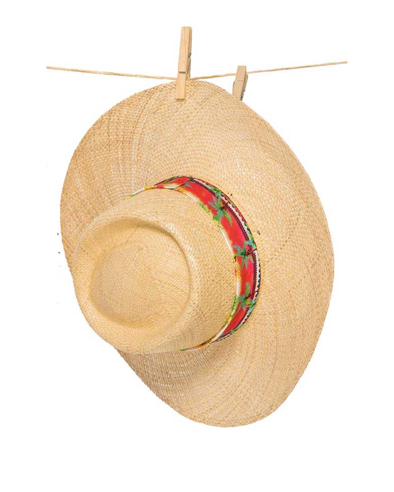 PHAX NATURAL STAMPED STRIP HAT, U by PHAX