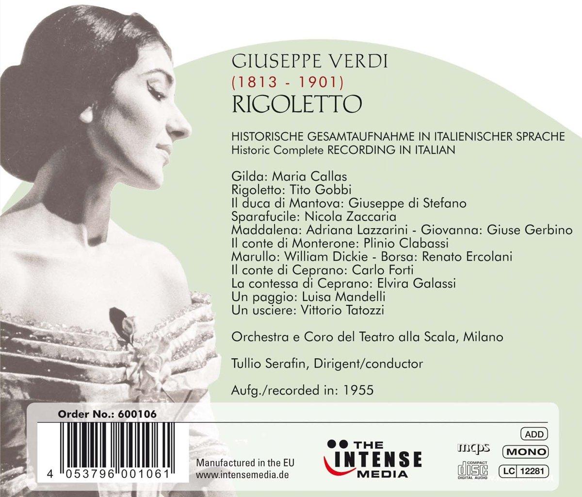 Verdi: Rigoletto: Maria Callas, Giuseppe di Stefano: Amazon.es: Música
