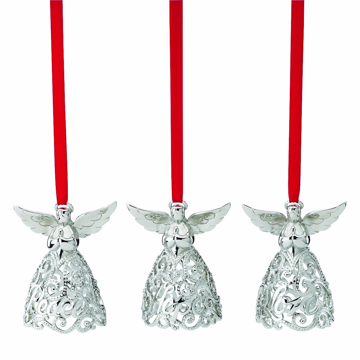 Amazoncom Lenox Angel Ornament Set of 3 Home  Kitchen