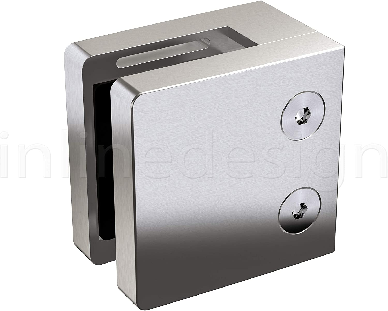 Amazon.com: Inline Design - Abrazadera de cristal cuadrado ...