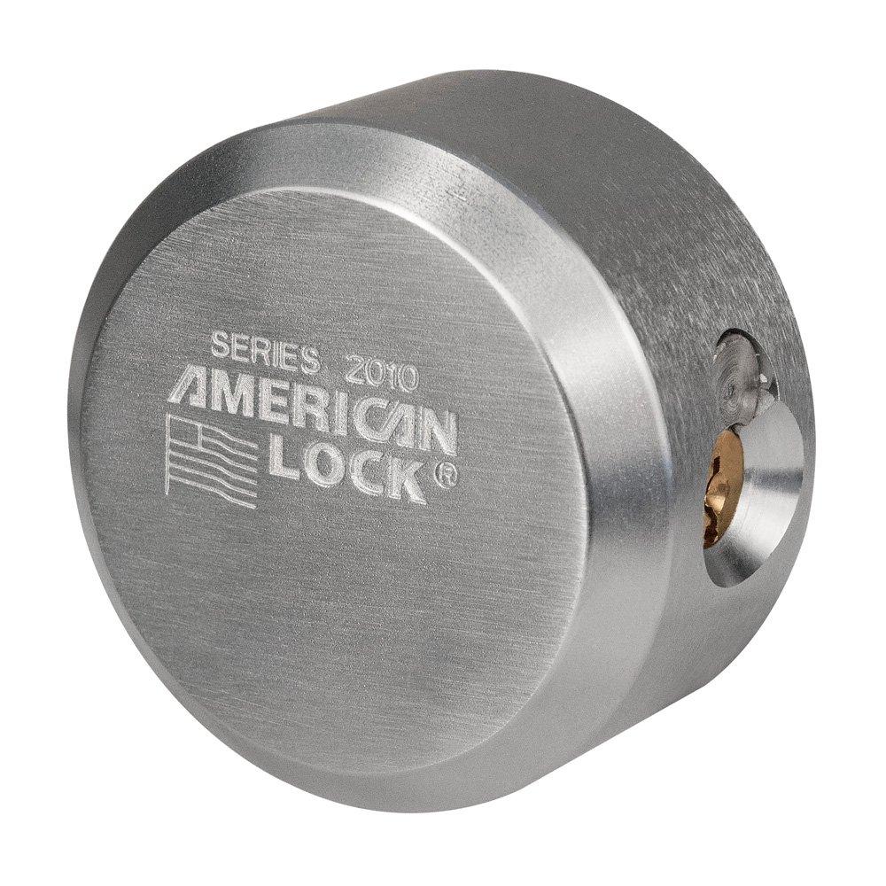 American / Master Lock - (3) Solid Steel, High Security, Hidden Shackle Padlocks A2010KA-3