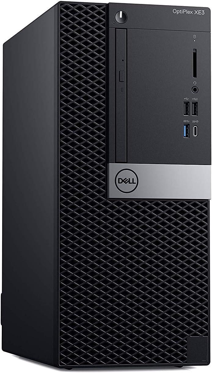 Dell Optiplex Xe3 Mid Size High Performance Tower Desktop PC (Intel 6 Core i7-8700, 32GB Ram, 512GB SSD, WIFI, Bluetooth, DVD-RW, VGA + HDMI) Windows 10 Pro (Renewed)