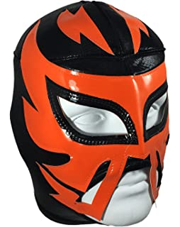 RAYMAN Adult Lucha Libre Wrestling Mask (pro-fit) Costume Wear - Black/