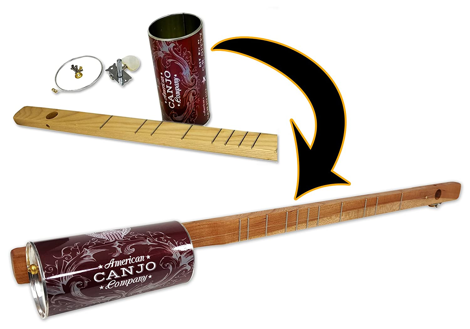 One-string Canjo (Tin Can Banjo) Kit - a fun, easy-to-play instrument that you build yourself!