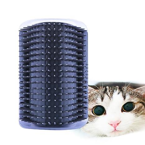 AUVSTAR Cepillo para mascotas, gatos, masaje para gatitos, rasguños, gatos, mascotas, cepillo de depilación autocosmetólogo, ...