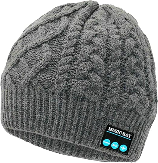 Music Hat Winter Caps for Outdoor Sports Wireless Bluetooth Beanie Hat for Men Stocking Stuffers for Men 2020 Unique Christmas Tech Gifts for Men Who Have Everything