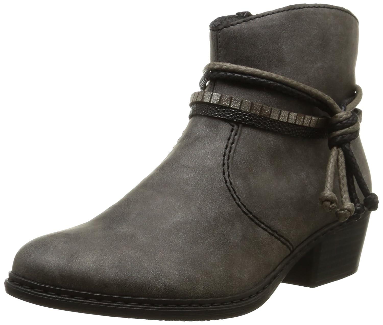 Rieker womens bootee grey/black