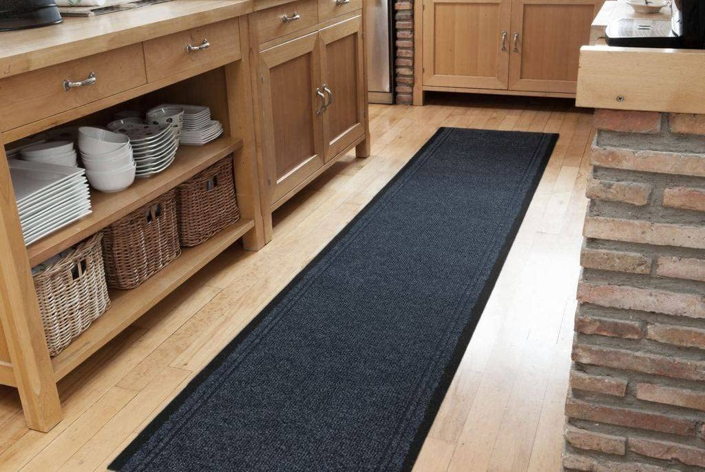 Navy Blue Dirt Popular popular Catching Rubber Backed Runner - a Sold Rugs Floor Max 80% OFF