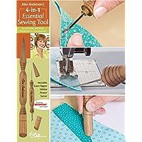 C&T PUBLISHING Alex Anderson's Herramienta de Costura Esencial 4 en 1: Incluye desgarrador de Costura, estileta, prensador y espátula (20109)
