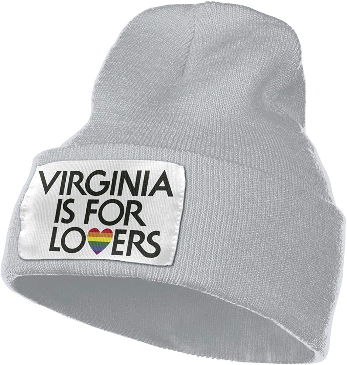Virginia is for Lovers Gay Flag Men/&Women Warm Winter Knit Plain Beanie Hat Skull Cap Acrylic Knit Cuff Hat