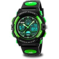 Boys Watches Ages 11-15 Waterproof, Kids Digital Sport Waterproof Watch for Kids Birthday Presents Green Gifts Toys Age…