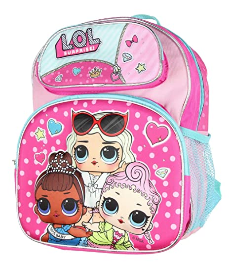 a21db7a8118e Amazon.com  LOL Surprise Backpack 12 Inch Preschool 3D Dolls  characternjoy