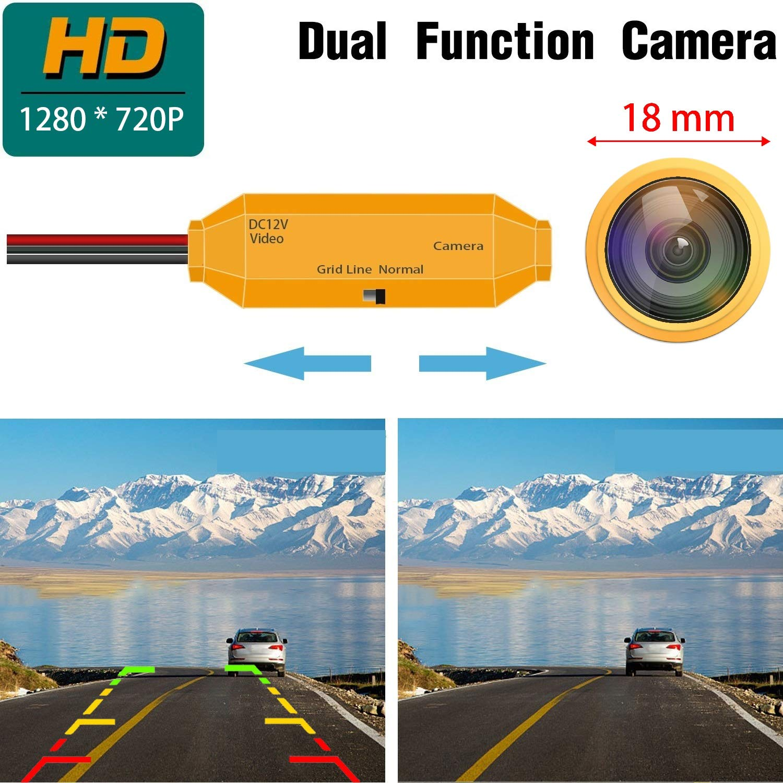 HD Dorado C/ámara de Marcha atr/ás 1280 720p,C/ámara de Visi/ón Trasera Visi/ón Nocturna Impermeable para Nissan Kicks Qashqai Dualis Juke Peugeot 307 Citroen Quatre Triomphe C4 C5