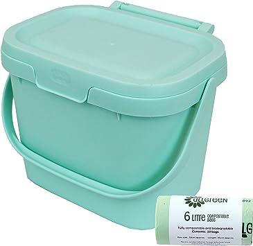 Komposteimer f/ür Lebensmittelabf/älle f/ür die K/üche Compost Caddy Addis Blue Haze Plastik