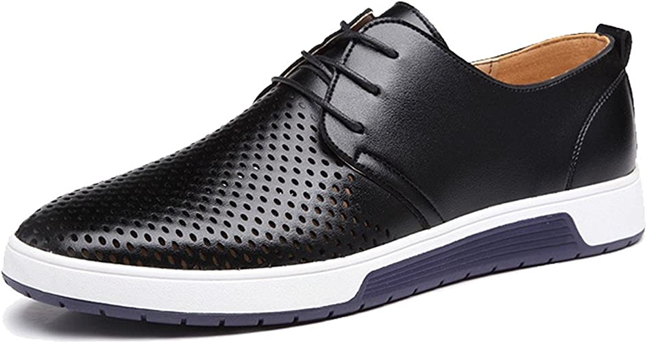 Leather Men Shoes Luxury Fashio Flat Drive Mens Casual Shoes