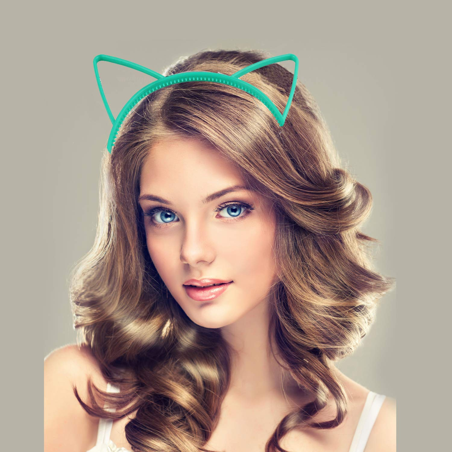 WENTS Cat Ear Headband Hair Hoop Hairband Adult Kids for Party Bag Fillers Daily Wearing 24 PCS