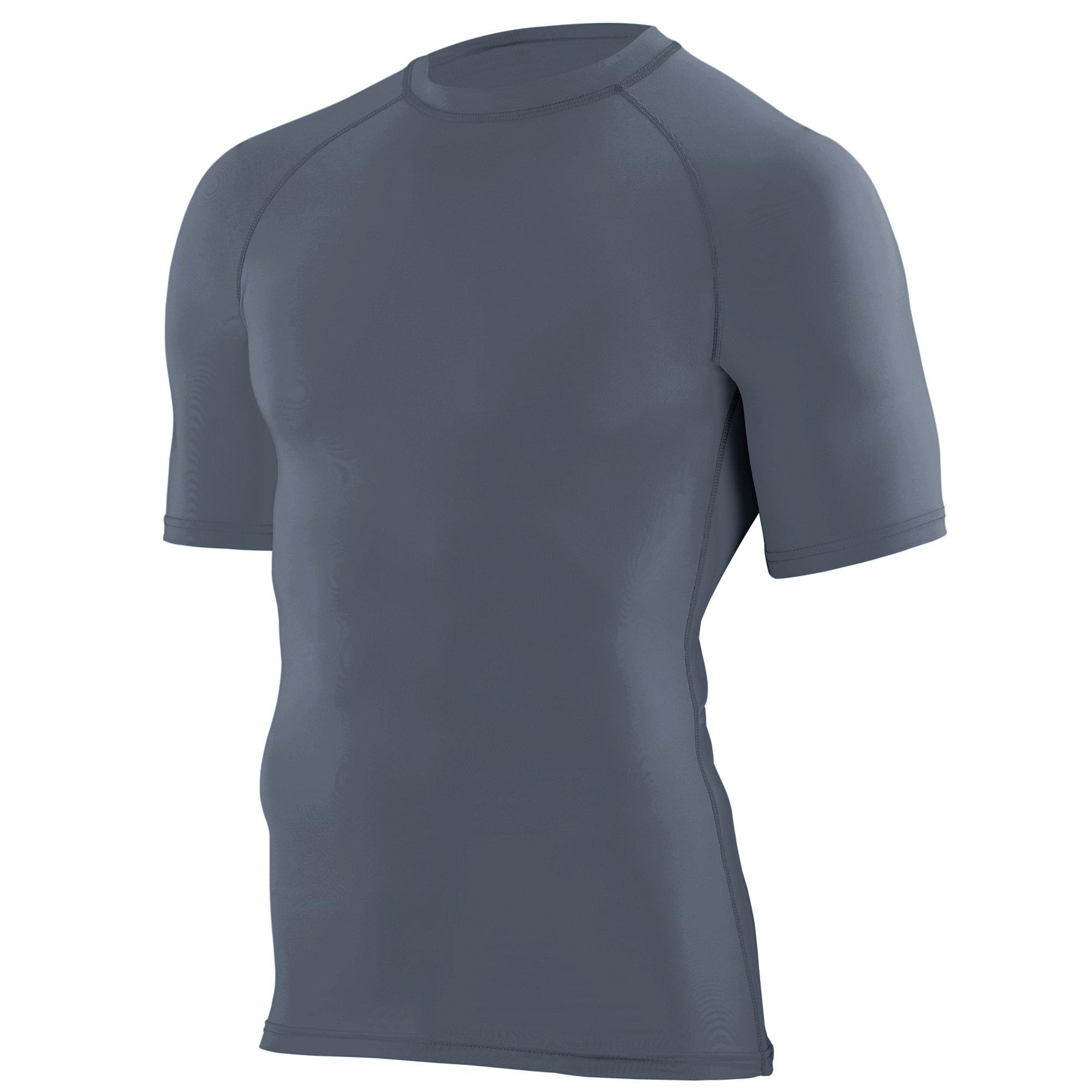 Augusta Sportswear Boys' Hyperform Compression Short Sleeve Shirt S Graphite