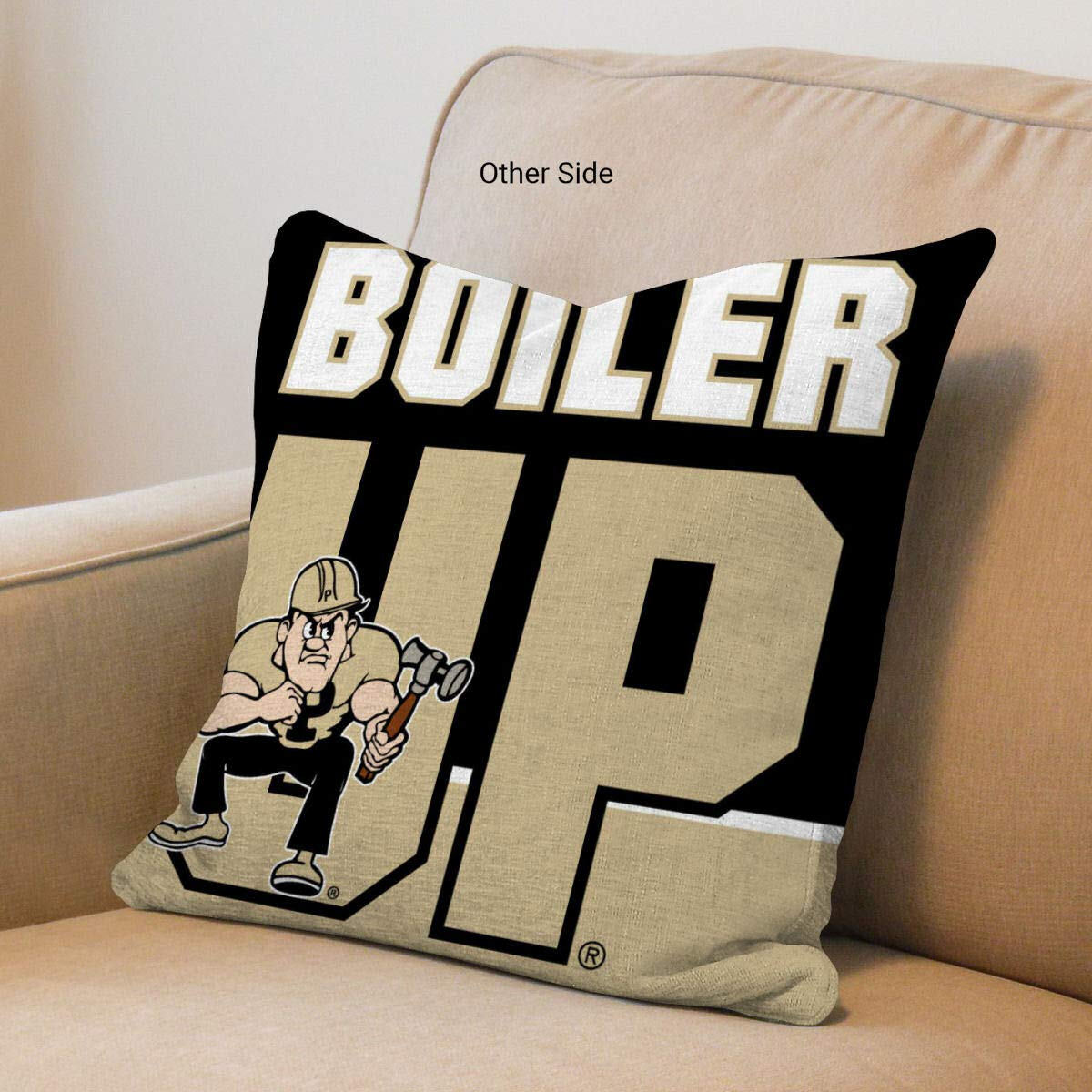 Purdue Boilermakers Boiler Up Logo Pillow College Flags and Banners Co