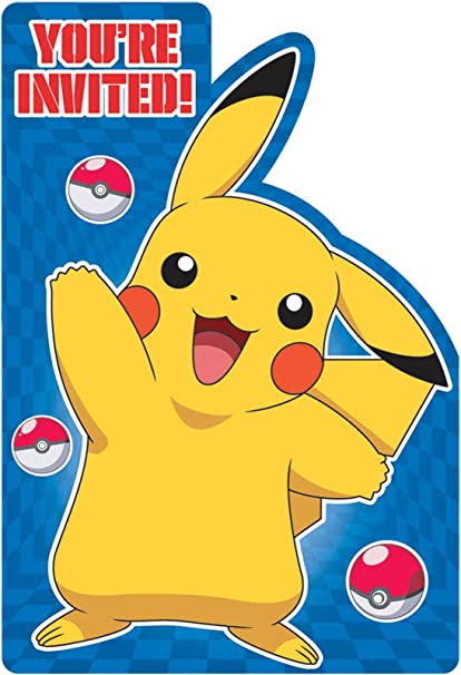 buy pokemon invitations 8 invites birthday party supplies cards