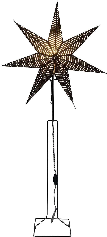 Star Standleuchte Stern Huss, schwarz, Metall, E14, 20.5 x 60 x 125 cm