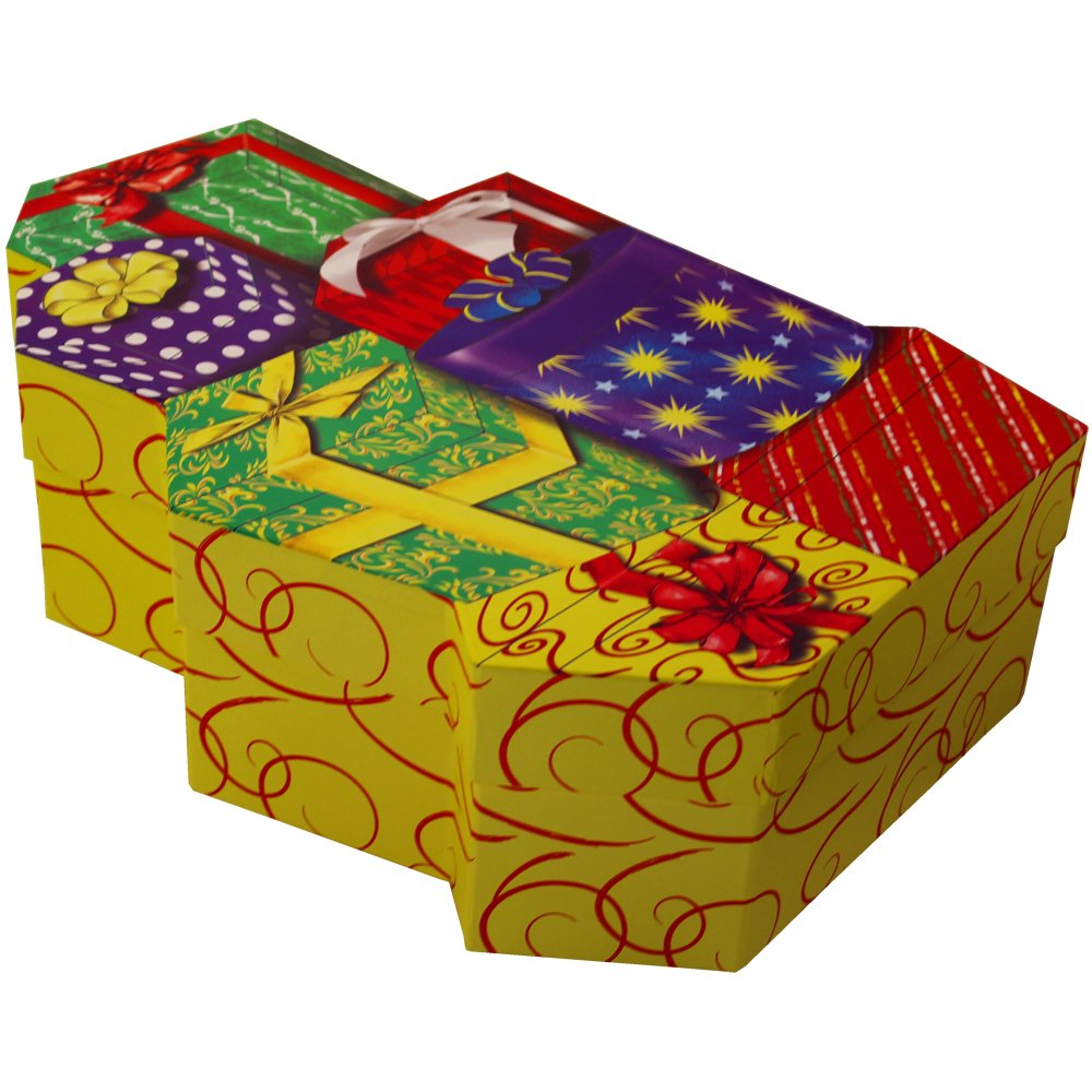 Presents Galore! Happy Birthday Celebration Gift Box (EMPTY BOX ONLY) Art of Appreciation Gift Baskets