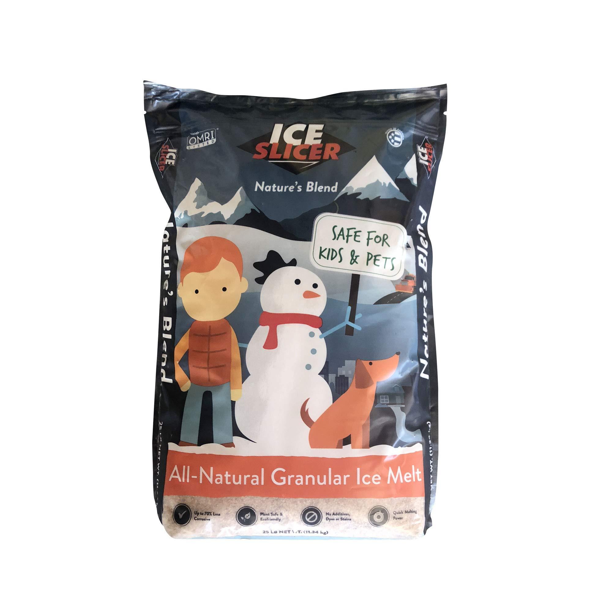 REDMOND Ice Slicer - Ice Melt Salt, Kid & Pet Safe Deicer, All-Natural Granular Ice Melt (25 LB) by REDMOND