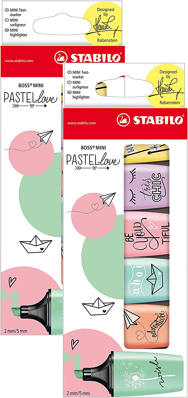 Stabilo Marcador pastel BOSS mini - Edición Pastel Love - Estuche con 6 colores (Multicolor, 2x 6er Pack): Amazon.es: Oficina y papelería
