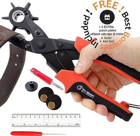 Amazon.com: Perforador de cinturones de cuero, correas ...