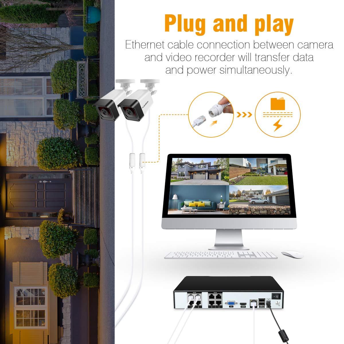 FLOUREON CCTV Sistemas de cámara de Seguridad: Amazon.es ...