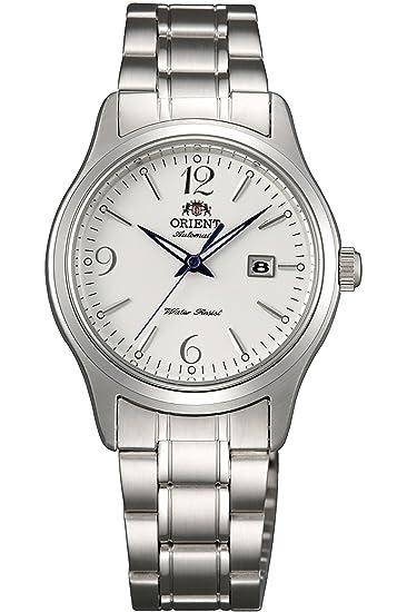 Orient Reloj Analógico para Mujer de Automático con Correa en Acero Inoxidable FNR1Q005W0: Amazon.es: Relojes