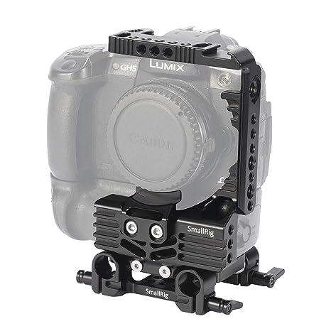 SMALLRIG Half Cage con 15 mm LWS Baseplate para Panasonic Lumix ...