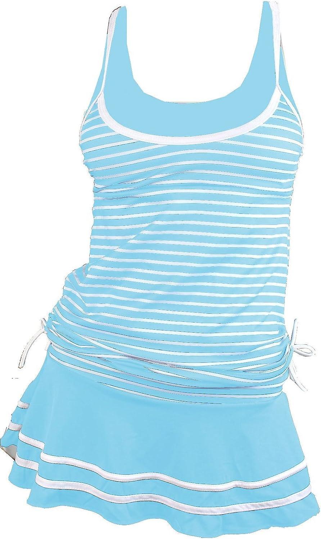 MiYang Womens Tankini Striped Vintage Swim Dress