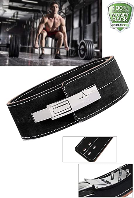 DEFY 10MM Weight Lifting Power Cowhide Leather Lever Belt Gym Training Bodybuilding New Defy Sports