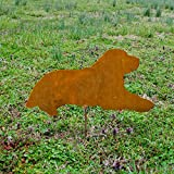 Labrador laying yard stake - Metal Labrador Retriever garden stake - Rusty Lab metal art - Outdoor Labrador garden stake - Lab patio stake