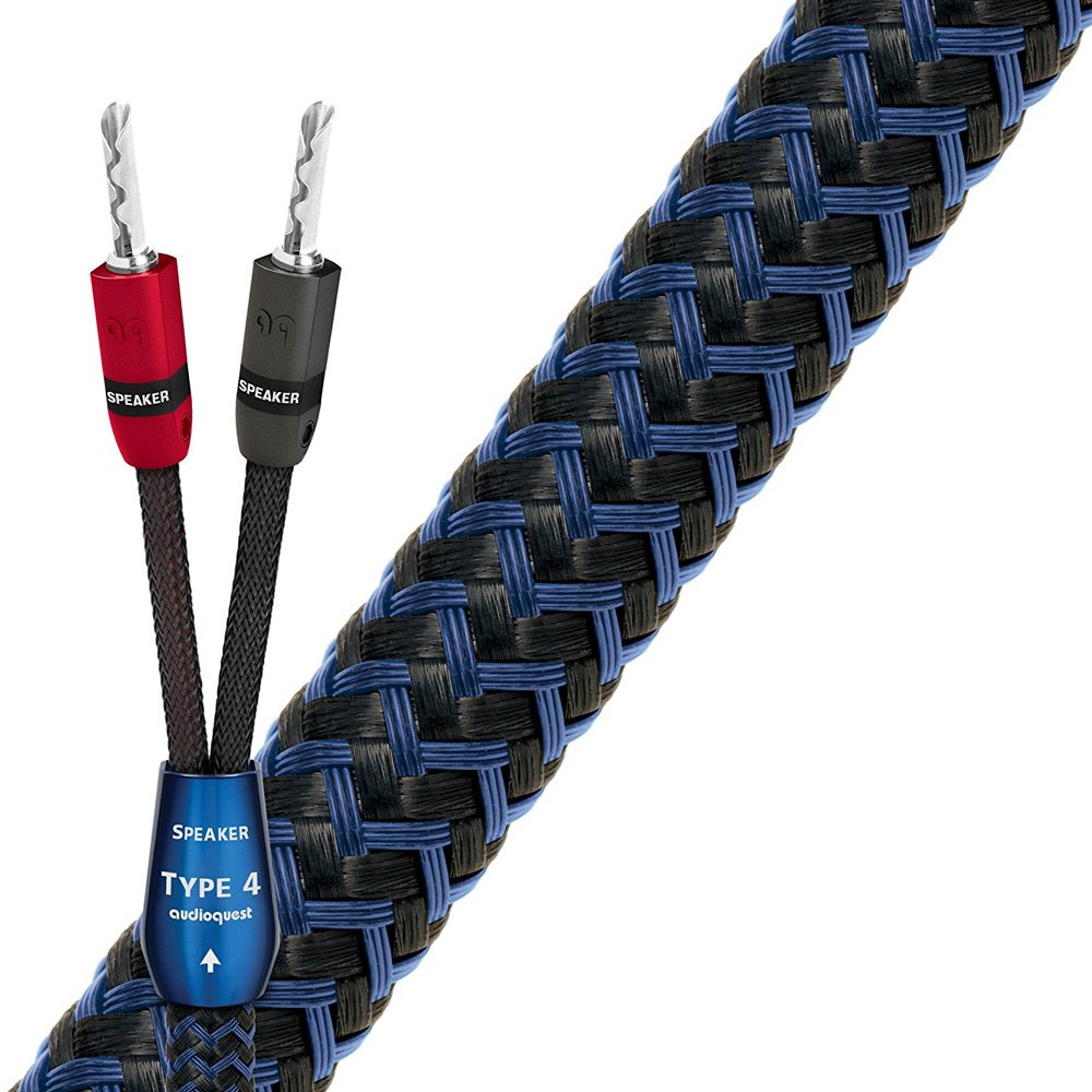 Amazon.com: AudioQuest 10 Feet Type 4 Speaker Cables with Pre ...